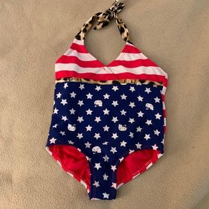 b6004f2bb9 Size 4 Hello Kitty Swimsuit One Piece Patriotic